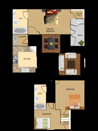 3 bedroom 2 bathroom codo