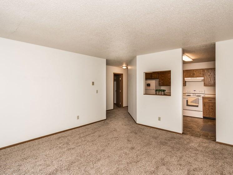 Harrison Apartments | 2 Bedroom | Living Room & Kitchen