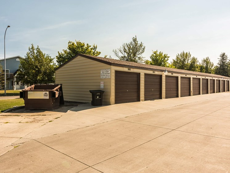 Library Lane Apartments | Single Garages