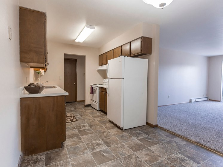 Mayfair Apartments | Kitchen & Living Room
