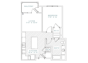 A1.A Floor Plan at Capital Crest at Godley Station Apartment, Georgia