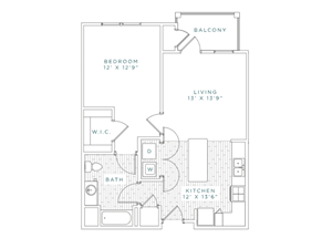 A3 Floor Plan at Capital Crest at Godley Station Apartment, Georgia,