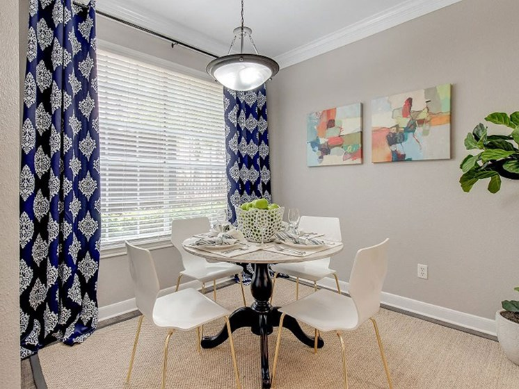 Spacious Dining Room at The Village at Bellaire Apartments in Houston, Texas