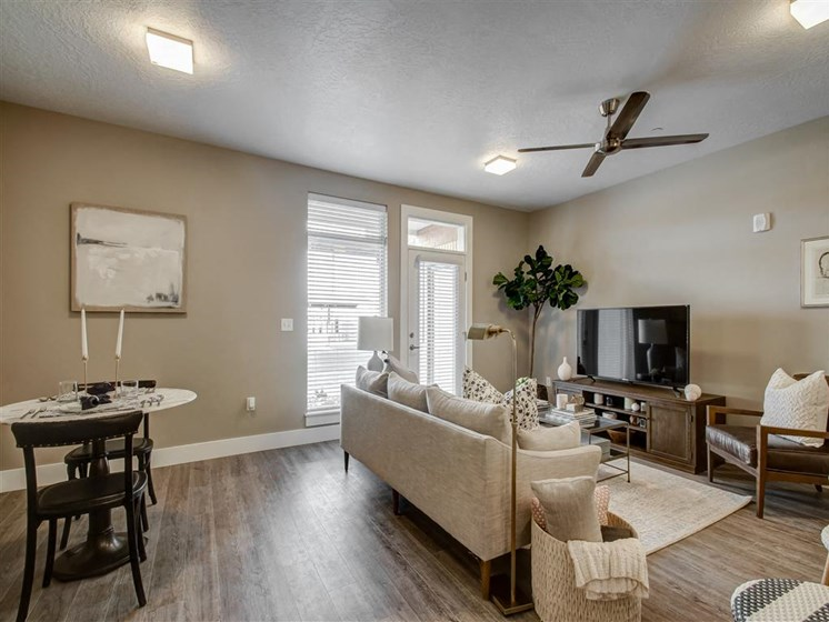 apartment living and dining room