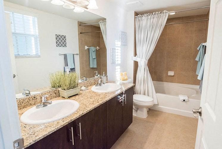 Spacious Bathroom with Relaxing Garden Tub at Casa Brera at Toscana Isle Apartments, Lake Worth, FL 33463