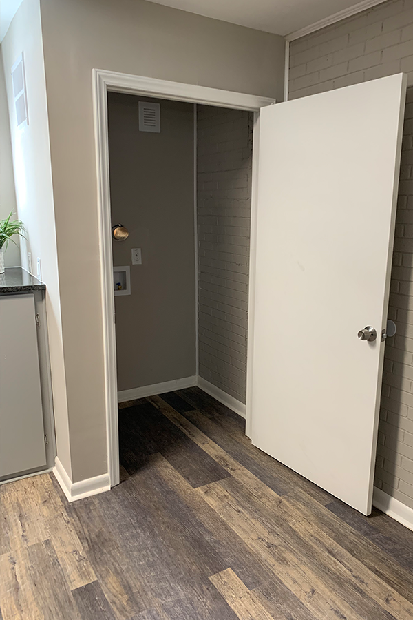 Separate Laundry Room for Washer/Dryer - Hookups Included in Wynwood Place Estates Downtown Raleigh Apartment for Rent