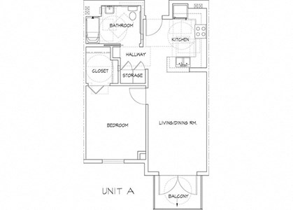 one bedroom floor plan l Athens Vista Senior Apartment in Los Angeles CA