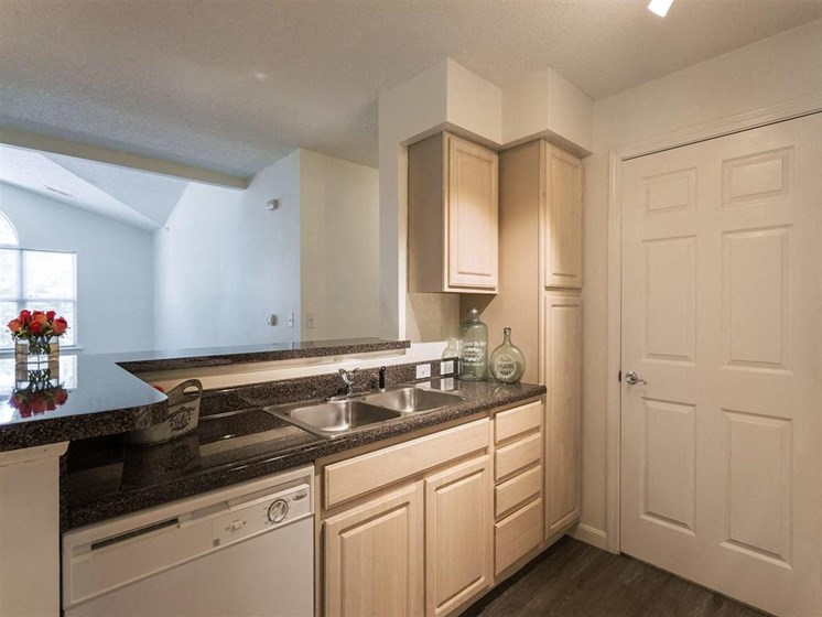 Tan Cabinetry and Spacious Counter Space at The Preserve Apartments in Walpole, MA 02081