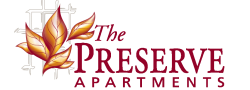 Logo Design Graphic for The Preserve Apartments, 100 Hilltop Dr, Walpole, MA