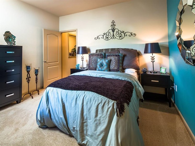 Master Bedroom with Linen Closet Space at Verano Apartments, Florida