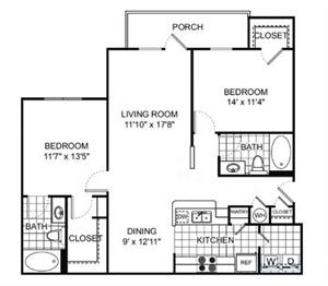 Floor Plan at Verano Apartments, Kissimmee, 34744