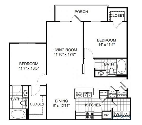Floor Plan at Verano Apartments, Kissimmee, 34744