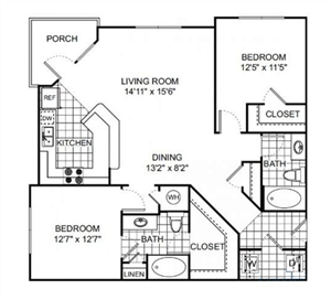 Floor Plan at Verano Apartments, Kissimmee, Florida