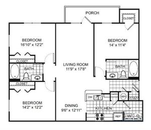 Floor Plan at Verano Apartments, Kissimmee