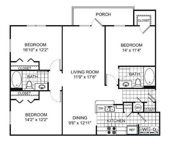 Floor Plan at Verano Apartments, Kissimmee