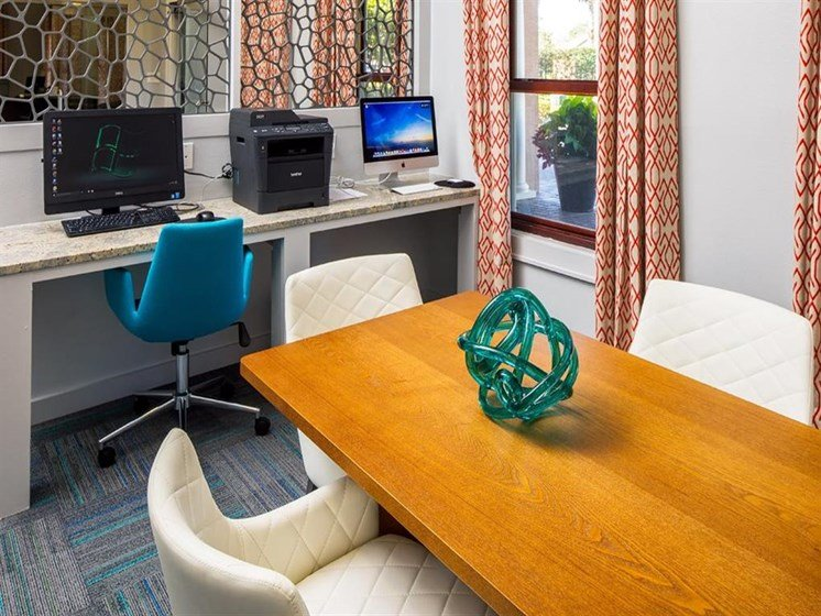Business Center with High Speed Internet Access at Verano Apartments, Kissimmee, FL