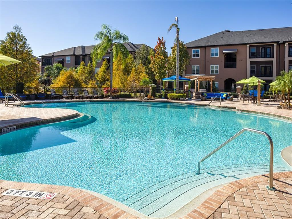 River Style Pool at Verano Apartments, Kissimmee, Florida