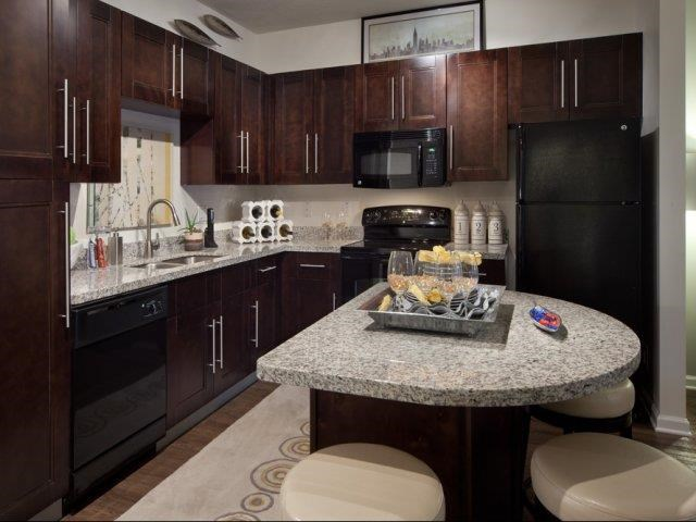 Gourmet Kitchens with Islands, Caesarstone Countertops, and Decorative Backsplash at Altis at Grand Cypress, Lutz, FL