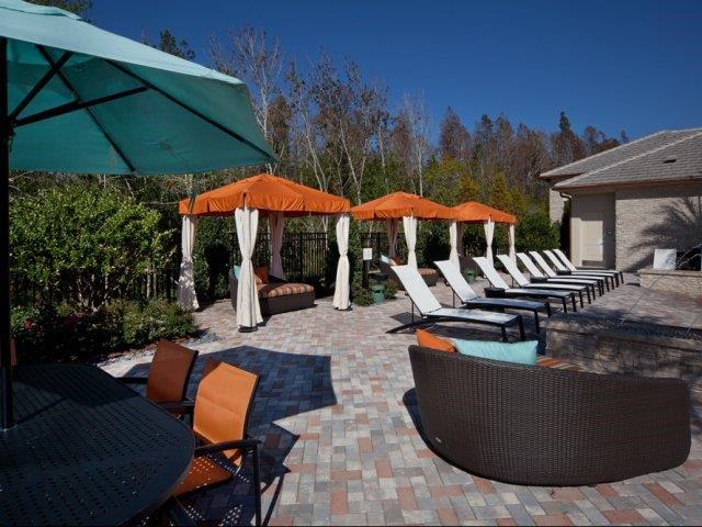 Beautiful Cabana and Sundeck at Altis at Grand Cypress, Lutz