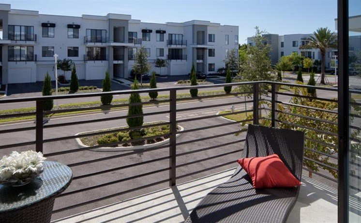 Private Patio/Balcony with Chairs at Pure Living Heathrow, Heathrow, FL, 32746