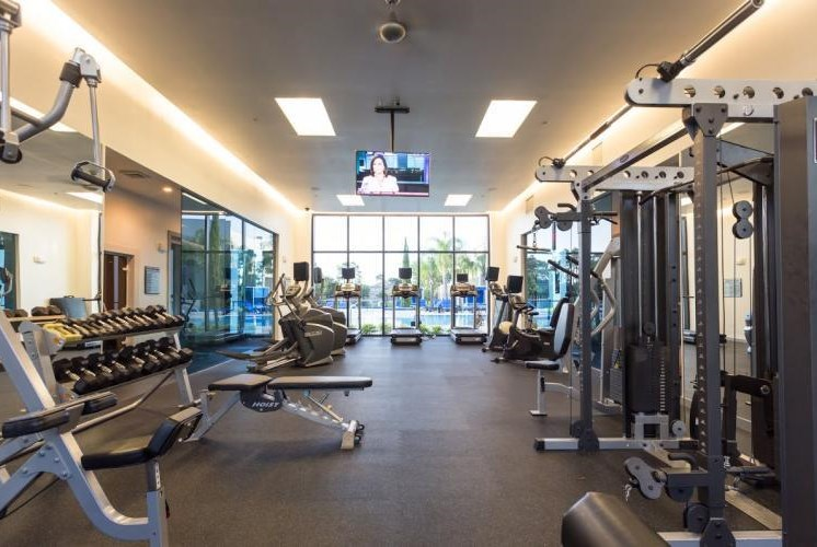 Cardio Equipment, free weights, weighted machines at Pure Living Heathrow, Florida