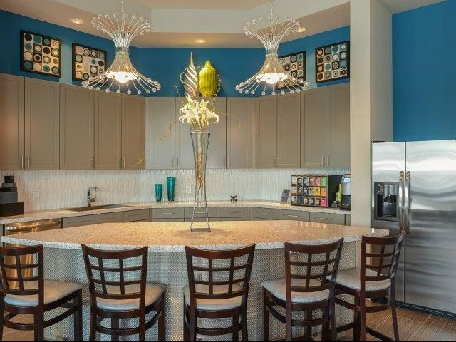 Clubhouse with Interactive Kitchen at Reserves at Alafaya, Orlando, FL