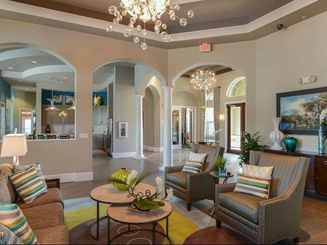 Clubhouse with Upgraded Interiors at Reserves at Alafaya, Orlando, Florida