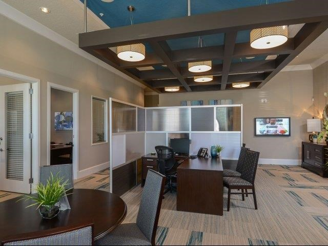 Clubroom with Catering Kitchen and Dining Area at Reserves at Alafaya, Florida