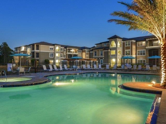 Refreshing Pool with Cabanas at Reserves at Alafaya, Orlando, FL