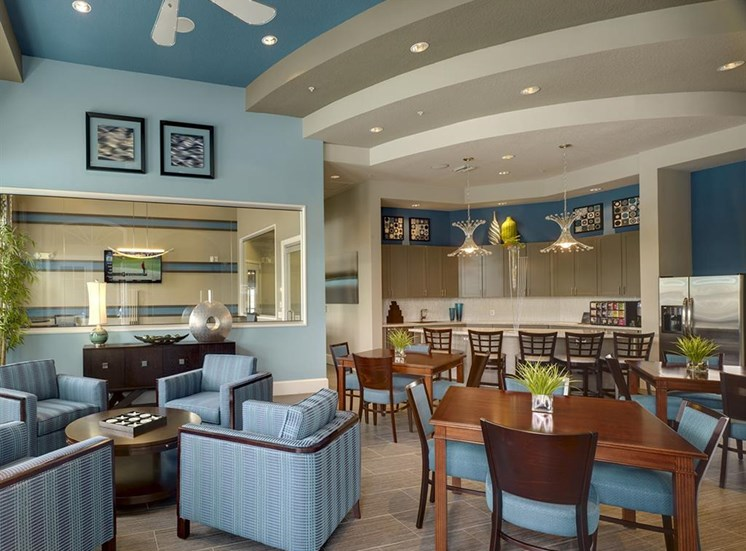 Game Room with Billiards and HDTV at Reserves at Alafaya, Florida