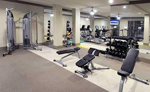 Fitness Center with Separate Spin Room at The Views at Coolray Field, Lawrenceville, GA