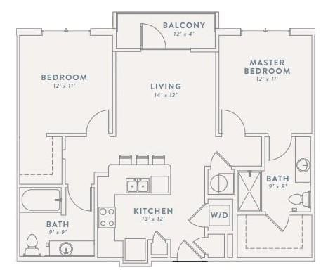 Floor Plan at The Views at Coolray Field, Lawrenceville, 30043