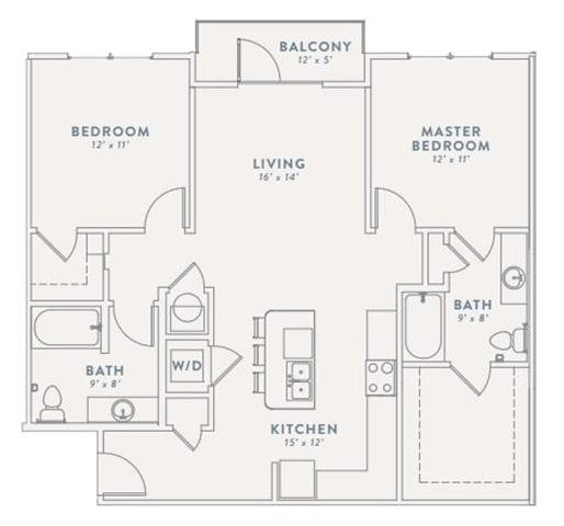 Floor Plan at The Views at Coolray Field, Lawrenceville