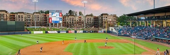Apartment Homes with Dynamic Views of Coolray Field at The Views at Coolray Field, Lawrenceville, GA