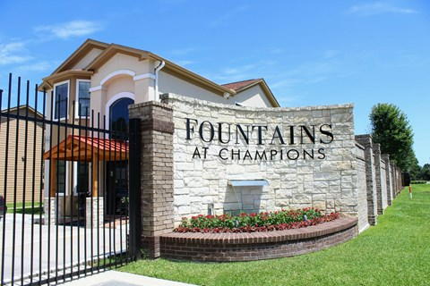Gated Entrance at Fountains at Champions, Houston, TX 77069