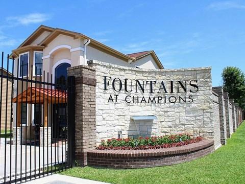 Lush Landscaping at Fountains at Champions, Texas, 77069