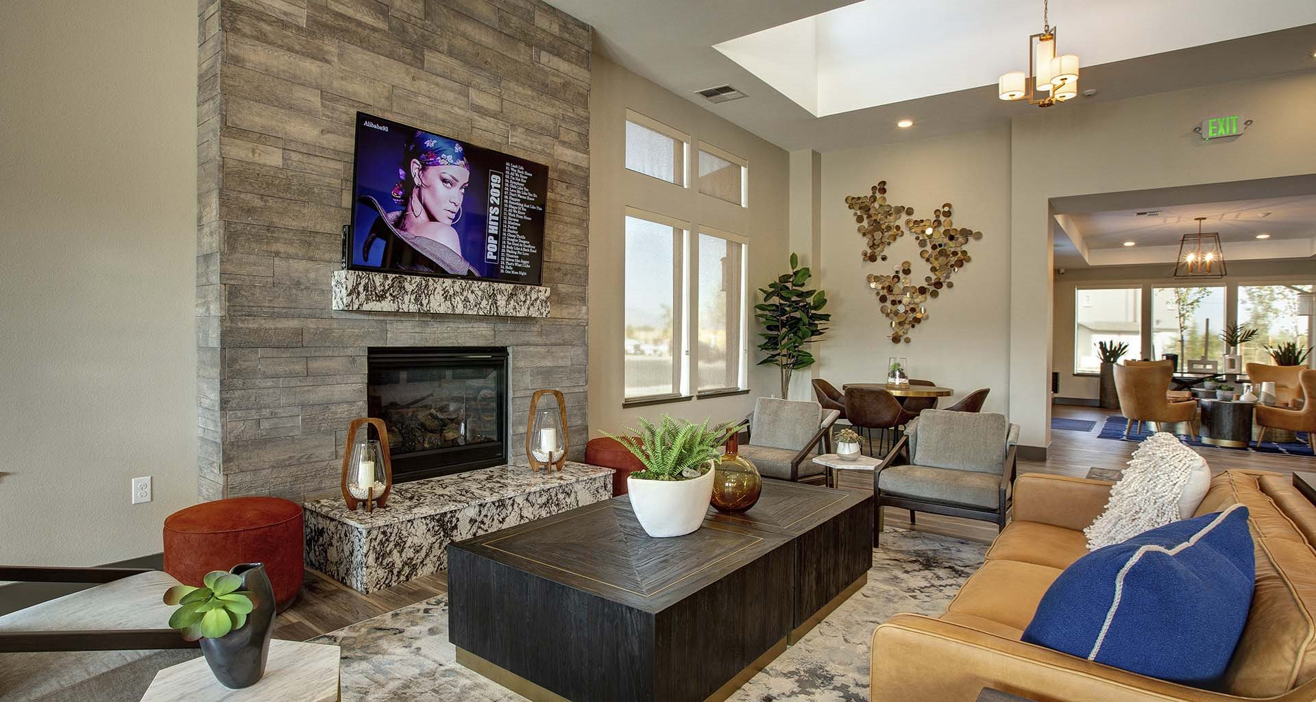 Clubhouse Fireplace l Steamboat by Vintage Apts in Reno, NV 89521