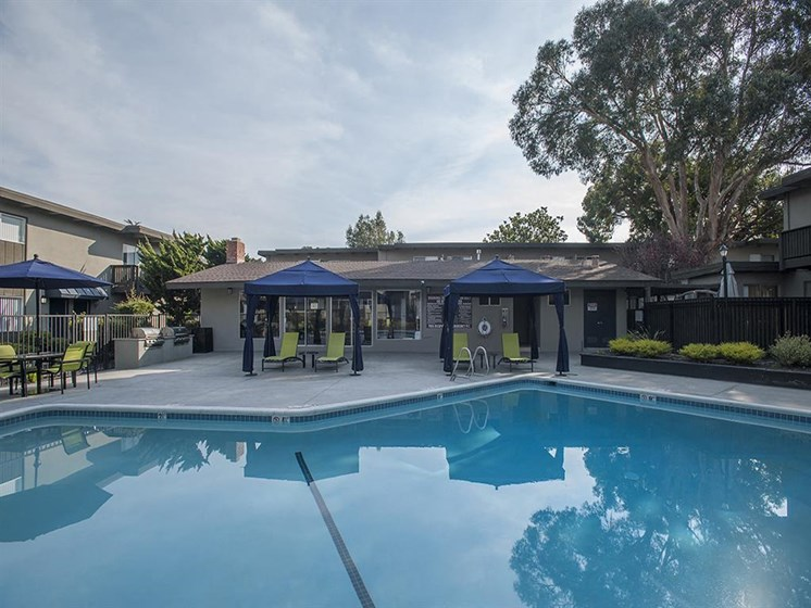 Poolside Grilling Area at Monterey Townhouse, California, 93940