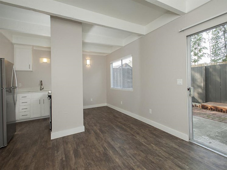 Hardwood Floors at Monterey Townhouse, California