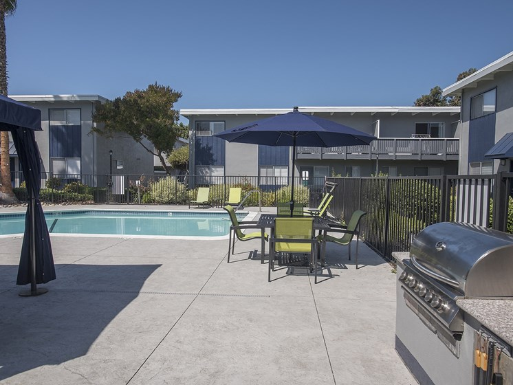 Monterey Townhouse|Poolside BBQ Grill