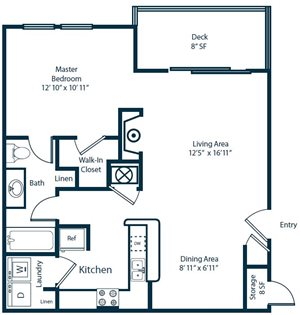 Sailpointe at Lake Norman Apartment Homes | A2 Floorplan