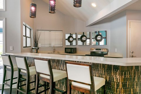 The Brook Apartment Homes|Clubhouse Kitchen