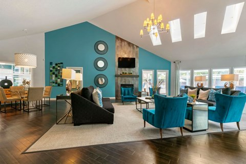 The Brook Apartment Homes|Clubhouse Living Room