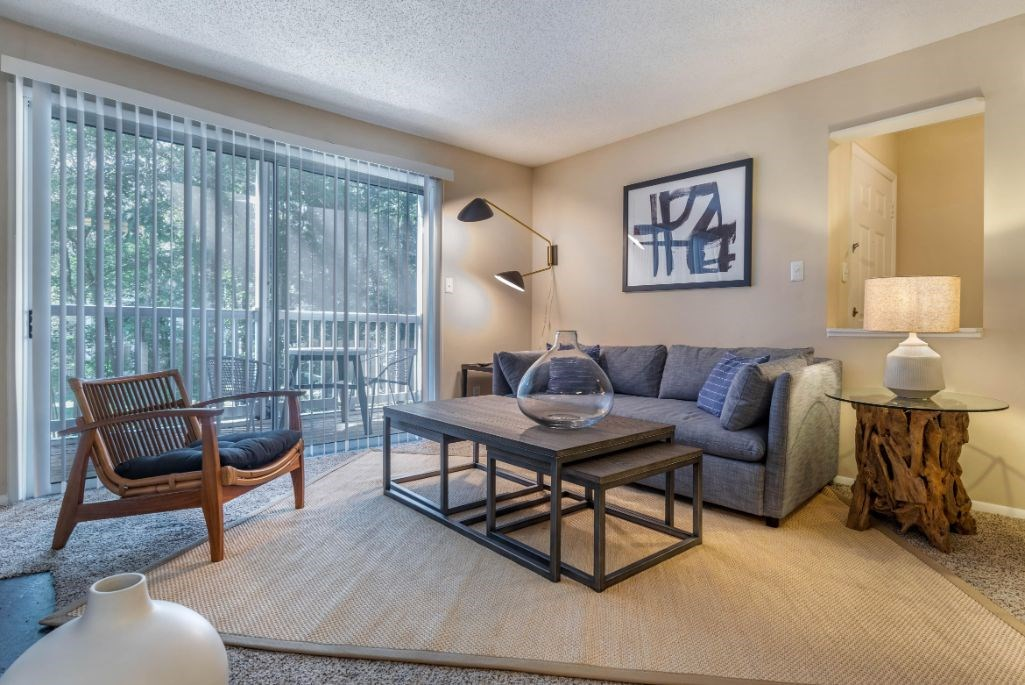 Southpark Commons Apartment Homes|Fully Furnished iving Room