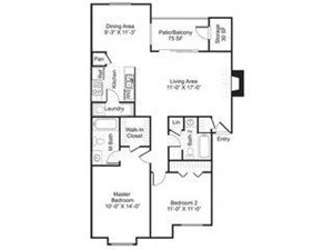Central On The Green Floor Plan B2 2 Bed 2 Bath