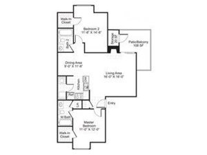 Central On The Green Floor Plan B3 2 Bed 2 Bath