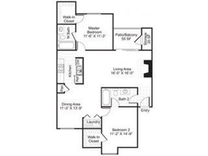Central On The Green Floor Plan B4 2 Bed 2 Bath