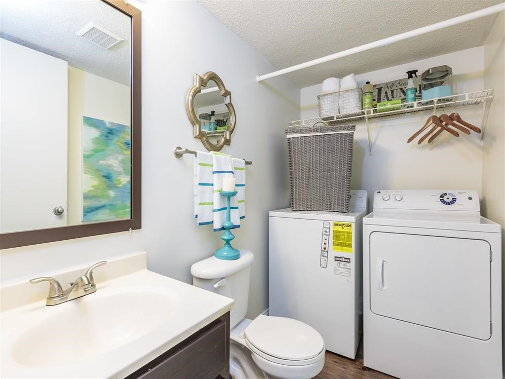 Regency Park|Bathroom with Washer and Dryer