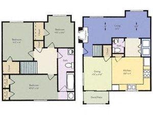 3 bedroom 2 bathroom floor plan