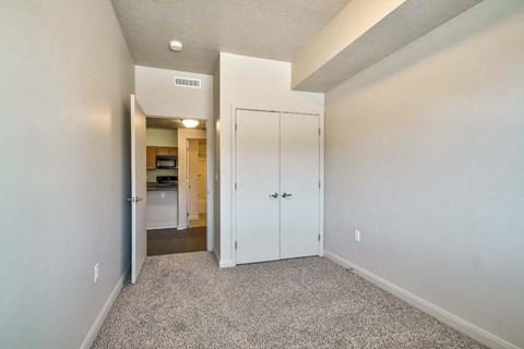 empty bedroom with carper